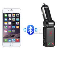 Wholesale Display Port Lead - BC06 Mini MP3 Bluetooth Car Charger Music Player Double USB Charger Port A2DP FM Transmit LED Display For Universal Cellphone Retail Package