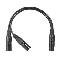 Wholesale Xlr Male Female Cables - High Quality 0.3m  1ft XLR Y Cable Cord 3-Pin Female to Dual Male Plug for Microphone Mixer Mixing Console