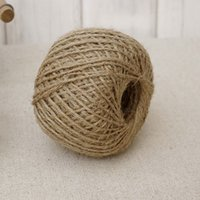 Wholesale Garden Labels - Woven 30m Roll Natural Hemp Rope DIY Tag Label Hang Rope Wedding Home Accessories Decorative Twine Jute String Gardening Cord