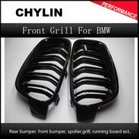 Wholesale 1 Pair F30 Car Styling Grill M3 Style F31 Kidney Black Replacement Grille For BMW F30 F31 i i i i Gloss Black
