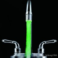 Wholesale Tap Water Stream - Colorful Change Faucets Light Colorful LED Water Faucet Stream Lamp Smooth Glowing Tap Lamps Fashion Home Tool 7 8rb R