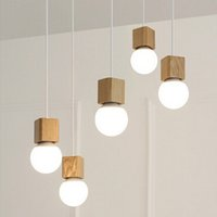 Wholesale Vintage pendant light Wood Retro lamp cm color wire E27 socket wood lampholder Hanging light fixture no light bulbs
