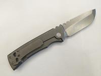 fait des couteaux de camping en porcelaine achat en gros de-Chaves CHINA Made Redencion Couteau Pliant D2 Perlé Soufflé Point Lame Stonewash Titane Poignées EDC Outils Tactiques Livraison Gratuite