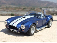 Wholesale New Ford Models - Brand New KiNSMART 1 32 Scale USA Ford 1965 Shelby Cobra 427 S C Supercar Diecast Metal Pull Back Car Model Toy For Gift Kids