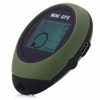 izleyici bulma toptan satış-Mini Takip Cihazı Protable Anahtarlık GPS Bulucu Seyahat Pathfinding Açık El Tracker Izle-şekilli Anahtarlık Izci