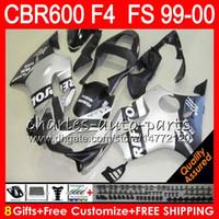 Wholesale Cbr F4 Fairings - 8Gifts 23Color Bodywork For HONDA CBR 600F4 CBR600F4 99 00 FS Matte Repsol 30NO107 CBR 600 F4 99-00 CBR600FS CBR600 F4 1999 2000 Fairing Kit