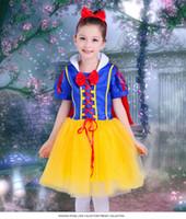 Wholesale Dress Wedding Tale - Halloween Children Snow White Dress Cosplay Performance Dresses Wedding Dresses Girls