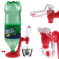 Wholesale Plastic Presses - Wholesale- The Magic Tap Saver Soda Dispenser Bottle Coke Upside Down Drinking Water Dispense Party Bar Kitchen Gadgets Drink Machines