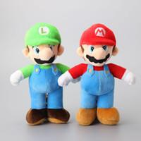 "Wholesale Mario Bros Stuffed Toys Wholesale - Super Mario Bros Plush Toy Mario And Luigi Stuffed Animals Plus Toys For Gifts -D012 (2pcs Lot   Size: 8"" 20cm)"