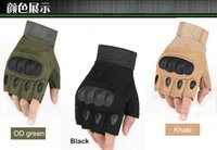Wholesale fingerless half gloves - Army tactical glove half finger outdoor glove anti-skidding sporting gloves 3 colors 9 size for option
