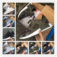 Wholesale Womens Pink Camo Shoes - Cheap NMD XR1 BOOST Runner Camo Green Pink White Mens Womens Sport Running Shoes Fashion NMD XR 1 Runner Athletic Shoes With Box Eur 36-45