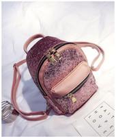 Wholesale Woman Bright Color Bags - New bright color backpack women fashion single shoulder messenger bag lady popular handbag black purple pink grey color no202