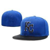 Wholesale Cheap Fitted Baseball Hats Wholesale - KC Fitted Caps Royals Team Cheap Size Cap New Arrival Baseball Caps Best Hats and High Quality Sun Hats Cool Flat Brim Caps
