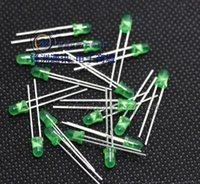Wholesale 3mm Led Wholesalers - Wholesale- 3mm led green 100pcs F3 LED 3MM green DIP2 short legs 3mm led green 2.7-2.8V New and original free shipping