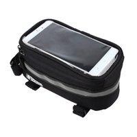 Wholesale Mtb Frame Bag Pannier - New Cell Phone bag 3.5inch-5.7inch Cycling Bicycle bags panniers Frame Front Tube Bag MTB Bike Touch Screen Bag For Samsung S6