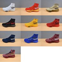Wholesale Crazy Woman - 11 color 2017 New Arrival man running shoes Crazy Explosive Boost women Basketball Shoes for Top quality Sports Training Sneakers Size 8-11