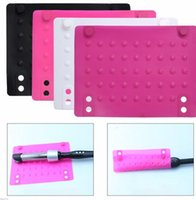 Wholesale Wholesale For Hair Straightener - Flat Iron Heat Resistant Silicone Mat For Straightener Curling Hair Styling Accessory