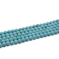 Wholesale Turquoise Round Beads 8mm - 8mm 10mm Blue Turquoise Round Beads Turquoise beads Blue gemstone Jewelry supplies 15.5 inch Full Strand