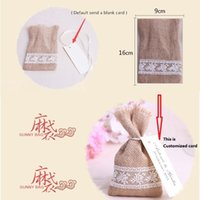 001 spoon chair - Hot Selling Wedding decorations favors Candy Gunny bags Wedding Chair Bunting Hessian Burlap Banner in good price shipping free