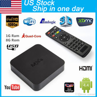 Wholesale Media Stocks - US Stock MXQ TV BOX Amlogic S805 Quad Core Android KD Airplay Programs Media Player VS V88 T95N T95M MXQ 4k A95R R1 2PCS