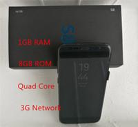 Wholesale Micro Frames - Goophone s8 Edge 1GB Ram 8GB Rom Quad Core 5.5inch s8 Mtk6582 3G Network Metal Frame S8 Smart Phone