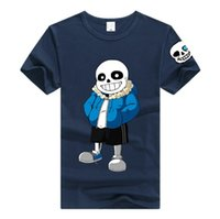 Wholesale Christmas Shirts For Men - Game Undertale Sans T-shirt Unisex Skeleton Fashion Men Women Cotton T-shirt Anime Cosplay for Christmas gift Undertale cos Costumes DM1177