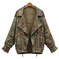 Compra Giacche Camouflage Delle Signore-Commercio all'ingrosso - Donne Giacca Giacca Camouflage Giacca Stampa Floreale Chaquetas Mujer Outumn Giacconi Giacconi Giacca Outwear caldo
