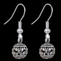 Wholesale Gold Butterfly Earings - Vintage Boho Alloy Butterfly Carved Women Dangle Hook Earrings Ear Stud Unique Tibetan Silver Bohemian Jewelry Earings Earrings Ear Rings