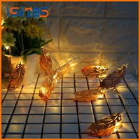 chambre d'éclairage de nouveauté achat en gros de-2017 New Arrival Holiday Lighting Nouveauté Metal Leaf String Lights Wedding Garden Party Baby Kids Décoration de chambre à coucher