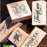 New Wooden Grazie Love Stamps Rectangle Stamp Rubber Craft Favor Scrapbooking spedizione gratuita