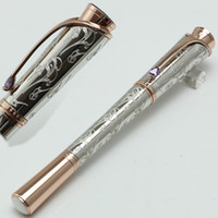 marcas de caneta esferográfica venda por atacado-Luxo Princesse Graça de Padrão Gravado roller ball Caneta Escritório Escola Papelaria MB canetas presente