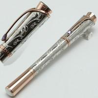 rodillo de metal al por mayor-Princesse de lujo Gracia de patrón Grabado bola de bolígrafo Escuela de la oficina Papelería MB plumas regalo