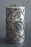 Collectible Tibet Silver Carve Dragon Phoenix Noble Toothpick