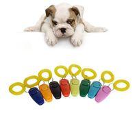 Wholesale flute whistle online - Pet Dog Training Adjustable Sound Dog Whistle Key Chain Dog Clicker Flute Stop Barking Pet Training Repeller Train