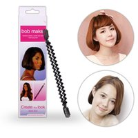 Wholesale Bob Hair Clip - Magic Braid Maker Tools Creating BOB Hair Roller Twist Clip Stick DIY BOBO Head Styling From Long Hair Become Short Hair Tools Hairdisk Ins