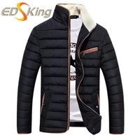 Wholesale Jackets Para Hombres - Wholesale- High Quality Men Casual Parka Fashion Stand Collar Mens Winter Jackets Brand Clothing Chaquetas De Plumas Para Hombres