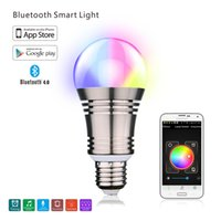 Wholesale Led Light Basin - Wholesale-Smart Bluetooth LED light multiple colors jumping changes for bathroom water faucet kitchen basin water tap turn on automatic
