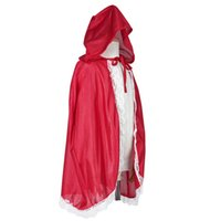 Wholesale Red Riding Hood Costume Girls - riding hood costume Little Riding Hood Costume Girls Red Cap Cloak Children Anime Cosplay Cape Clothing for Kids with Lace