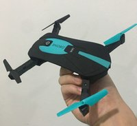 Wholesale Cheap Wi Fi - 2.4G Portable JY018 Foldable Mini Selfie Camera Drone WiFi FPV Phone Control Pocket Folding Quadcopter RC Helicopter Toys Whole Cheap DHL