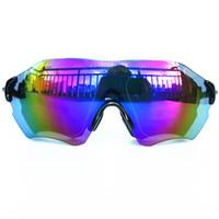 Wholesale Hunting Sunglasses - New Luxury Brand Men's Frameless Fashion Sunglasses 3 Pairs of Lenses Polarized Anti-UV Eyewear Cycling Fishing Hunting Sunglasses With Box