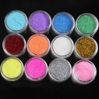 Wholesale Wholesale Professional Acrylic Powder - DHL free 12 Colors Professional Nail Art Decoration B10 Color Acrylic Powder