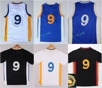 Wholesale Chinese Roads - 2017 Hot 9 Andre Iguodala Jersey Shirt Christmas Chinese Uniforms Fashion Home Road Away Blue White Black with sleeve With Name