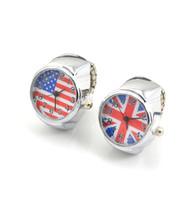 hediye mücevher uk toptan satış-Drop Shipping 5 / setleri 10 / Adet 20mm ABD İNGILTERE Bayrağı Gerilmiş Parmak Yüzük İzle, Yeni Moda Kadın Yüzükler Güzel Zarif Tasarım Takı Hediye