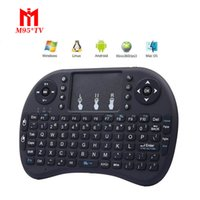 Wholesale rii i8 Wireless Keyboard mini keyboards Fly Air Mouse Multi Media Remote Control Touchpad Handheld for TV BOX Android Mini PC