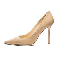 Zandina Ladies Handmade Fashion Elegant 100mm Pointy Basic Office Party Prom Bombas de salto alto Shoes Nude Leather
