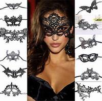 venedik maskeli kadın maskeleri toptan satış-Cadılar bayramı Maskeleri Kadınlar Için Seksi Dantel Göz Maskesi Parti Maskeleri Maskeli Cadılar Bayramı Venedik Kostümleri Anonim Mardi Karnaval Maskesi