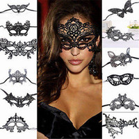 Wholesale carnival eye masks - Halloween Masks Women Sexy Lace Eye Mask Party Masks For Masquerade Halloween Venetian Costumes Carnival Mask For Anonymous Mardi