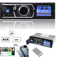 Wholesale 4ch usb - 25W x 4CH Auto Car Stereo Audio In-Dash Aux Input Receiver with SD USB MP3 FM Radio Player CAU_008