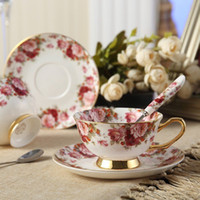 Wholesale Tea Cup Saucer Sets Wholesale - Bone China Tea Cup Coffee Cup Set with Saucer and Spoon,for Home, Restaurants, Display & Holiday Gift for Family or Friends