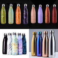 Wholesale Eco Friendly Hot Water - Hot Sell Water Cup 500ML Vacuum Insulation Mug Bottle Sports 304 Stainless Steel Cola Bowling Shape Travel Mugs Water Bottle WX-C16